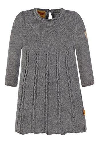 Steiff Mädchen Kleid 1/1 Arm Strick, Grau (Softgrey Melange 8200), 86