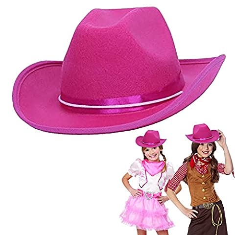 Cowboy Cowgirl Pink Hat Child Country Pink ow Boy Felt Costume Hat