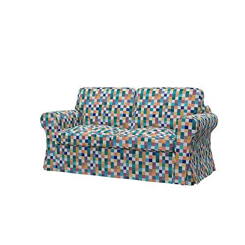 Soferia - IKEA EKTORP Funda para sofá Cama de 2 plazas, Mozaik...