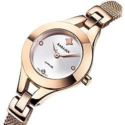Ladies fashion waterproof watch/Simple quartz watch/Ultra thin steel band Bracelet Watch-H