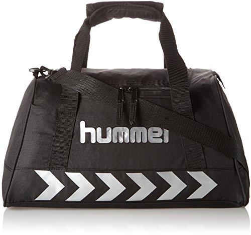 Hummel Authentic Sports Bag Sporttasche, Größe:XS, schwarz(Black/Silver), 40x23x21cm, 14 Liter