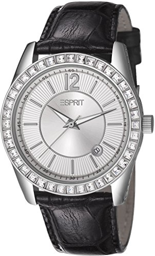 Esprit Ladies Watch Double Icon ES106142002 Analogue Display and Gold Leather