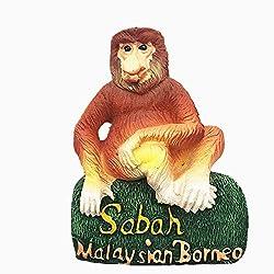 Sabah Malaysian Borneo Malaysia 3D-Kühlschrankmagnet, Reise-Souvenir-Geschenk, Dekoration für Zuhause und Küche, magnetischer Aufkleber, Kalimantan Island Malaysia Kühlschrankmagnet, Kollektion