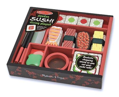 Melissa & Doug - 12608 - Sushi-Schneidespielzeug aus Holz (Melissa Und Doug Spielzeug Schneiden)