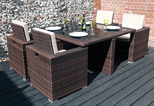 W1638 Garland Modular Rattan Polyester 4 Seater Large Cube Set Cover 135cmW x 135cmL x 71cmH