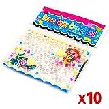 TOOGOO(R) 10 Paquetes de Bola Grano Cuenta de Agua Cristal Gel para Decoracion - Transparente