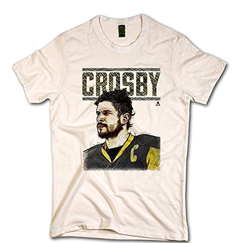 500Niveau Pittsburgh Penguins Sidney Crosby LNH Portrait T-shirt Ivoire, xx-large