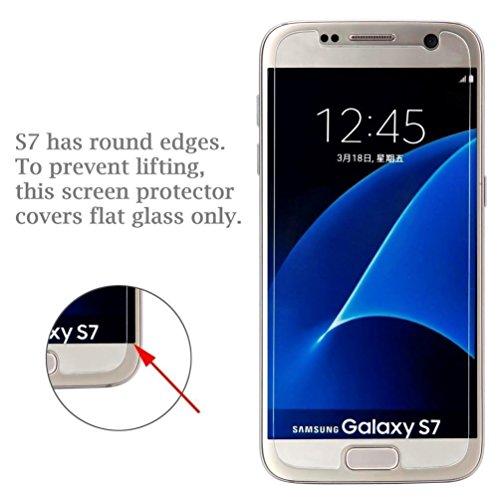 [3 Stück] Samsung Galaxy S7 Panzerglas Schutzfolie, Quiusky Displayschutzfolie für Galaxy S7 Panzerfolie Displayschutz Gehärtetem Glass 9H Härtegrad - 4