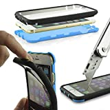UrCover Custodia Full Body Google Nexus 6 | Touch Cover Integrale Fronte Retro Transparente | Back Case Rigida Bumper Antishock | 360 Grad Armor in Blu