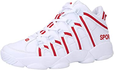 Quaan Männer Basketball Schuhe Rutschsicher Atmungsaktiv nett Schuhe Strapazierfähig Mesh Schuhe Mode Gemütlich Weich Spitze Sneaker Wanderung Sport Draußen Reise Rutschfest Atmungsaktiv Schuhe