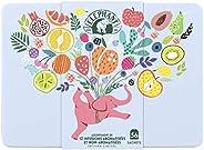 Elephant Coffret en Métal, Idée Cadeau, Assortiment de 12 Infusions Aromatisées & Non-Aromatisées, idéal à