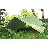 crayfomo Bâche Imperméable 300cm x 285cm Bâche Anti-Pluie/Abri de Randonnée, Toile de Tente(Vert Olive)