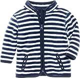 Playshoes Unisex Baby Jacke Fleecejacke Maritim, Blau (Marine/Weiß 171), 62
