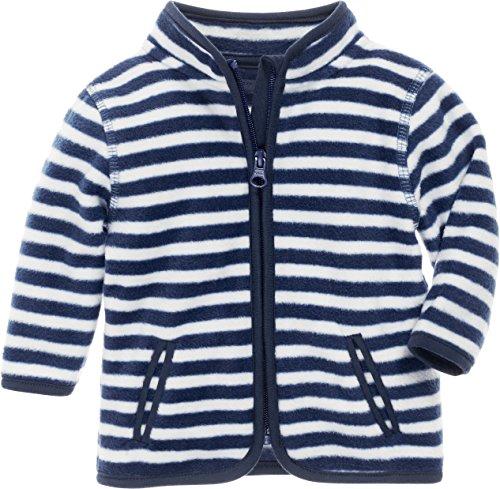 Playshoes Unisex Baby Jacke Fleecejacke Maritim, Blau (Marine/Weiß 171), 68