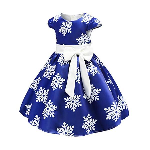 K-Youth Vestido Niña Navidad Copo de Nieve Estampado Vestido Princesa Niña Tutú Ropa Bebe Niña Bautizo Vestidos de… 2