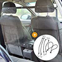 PetScott - Rete divisoria Auto per Cani Universale. Barriera di Protezione Auto per Cani Che Permette Il Trasporto del Cane in Auto. Contenuto: 1 Griglia/Separatore per Auto di 115x62cm + 6 Ganci
