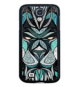 Fuson Premium 2D Back Case Cover Designed bull With blue Background Degined For Samsung Galaxy S4 Mini::Samsung Galaxy S4 Mini i9190