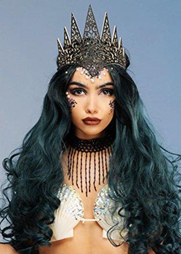 Magic Box Int. Gothic Meerjungfrau Schwarz Glitter Crown