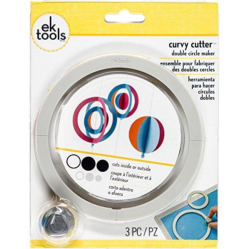 EK Success EK tools Curvy Cutter Doppel Kreis Maker, mehrfarbig, 18.41X 13,97x 2,54cm (Kreis Maker)