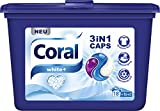 Coral Waschmittel 3 in 1 Caps White 16 + 2 WL, 3er Pack (3 x 486 g)
