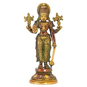 Redbag Standing Four Armed Lord VIshnu - Brass Statue