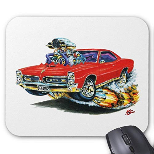 1966 Sitz (1966-67 GTO Red Car Mouse Pad 7.08X8.66 inches/18X22 cm)