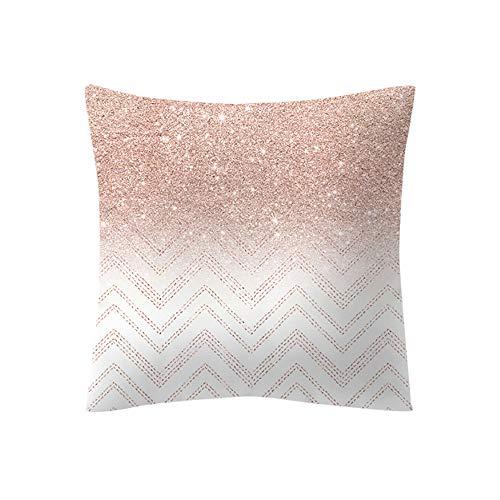 Federa cuscino cloom,cuscino rosa in oro rosa piazza federa decorazioni per la casa federe divani decorativo cotone cuscino copricuscini divano caso federa per cuscino 45x45 cm(b,1pc)