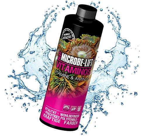 Amino Lift (MICROBE-LIFT Vitaminos - wichtige Vitamine und Aminosäuren für Korallen und Fische für jedes Meerwasser Aquarium, 236ml)