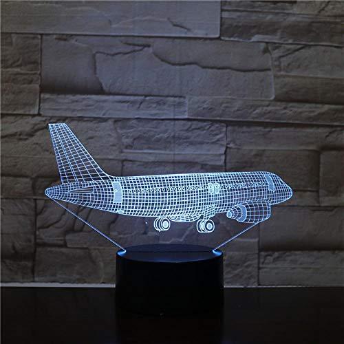 Avión Volador Lámpara 3D 7 Led Colores Cambiar Centro Comercial Luz De Noche Luces De Colores Atmósfera Lámpara Dormitorio Luz Para Regalo