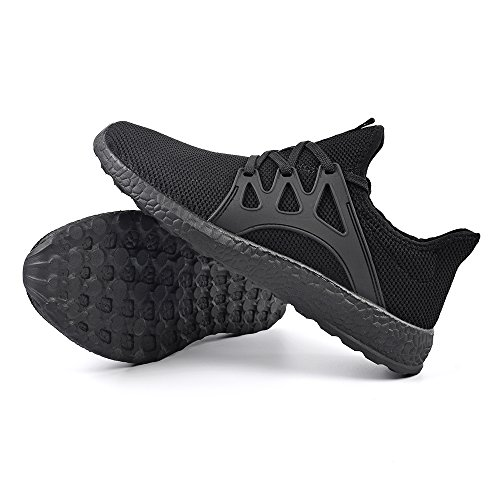 QANSI Uomo Scarpe Confortevoli da Corsa Sneakers Sportivi Leggeri Scarpe da Ginnastica Nero