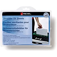 Rexel 2101949 - Pack de 20 láminas lubricantes para destructora de papel, tamaño A5