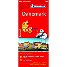 Carte Danemark Michelin