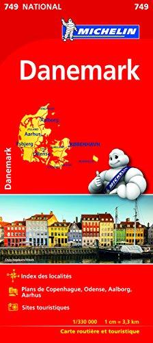 Carte Danemark Michelin