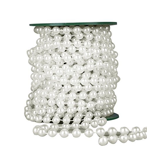 VORCOOL Perle Decoration, Guirlande Collier de perles décoration chaîne perle Ficelle décoration de Noël Bijoux Perles chaîne décoration de Mariage 10m
