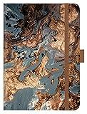 """Premium Timer Big """"Grey Marble"""" 2020: Hochwertiger Buchkalender. Terminplaner mit Wochenkalendarium, Gummiband und Stifthalter. 12 x 17 cm -"""