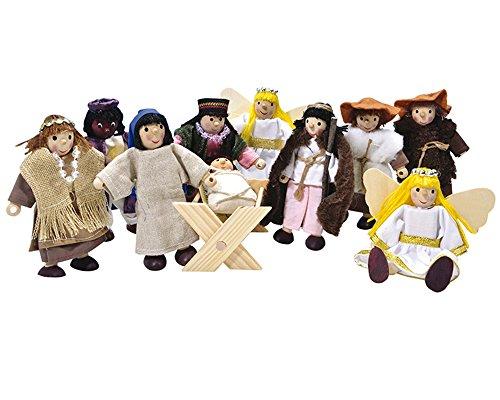 Winzlinge 309-21 Krippenfiguren Set klein - Weihnachten Weihnachtsgeschichtehte