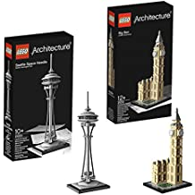 LEGO Architecture Seattle Space Needle 21003 and Big Ben 21013 by LEGO