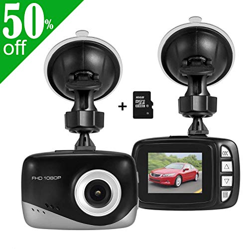 MINI Auto Dash-Kamera, Foxcesd FHD 1080P Dashboard Kamera 140 Grad Weitwinkel Driving Recorder mit G-Sensor, Loop-Aufnahme, Bewegungsmelder, 16GB TF Card, (Geist Recorder)