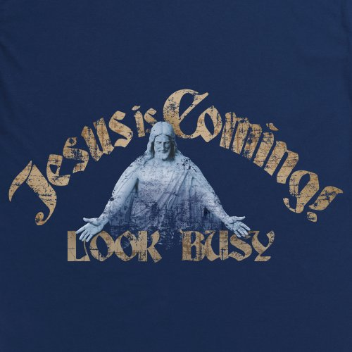 General Tee Jesus Is Coming T-Shirt, Damen Dunkelblau