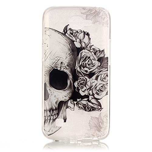 Pour Apple iPhone 6/6S(4.7 Zoll) Coque,Ecoway Housse étui en TPU Silicone Shell Housse Coque étui Case Cover Cuir Etui Housse de Protection Coque Étui Apple iPhone 6/6S(4.7 Zoll) –crâne crâne