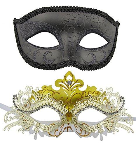 Paar Masquerade mrtal Masken venezianischen Halloween-Kostüm Maske Mardi Gras Maske