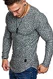 Amaci&Sons Oversize Slim-fit Muscleshirt Vintage Herren Feintrick Pullover Sweatshirt Crew-Neck 6039