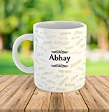 "FurnishFantasyâ""¢ Ceramic Mug - My name is Abhay"
