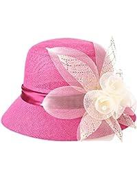 fc068e02eae Zoylink Womens Bucket Hat Floral Hat Ladies Elegant Fashionable Sun Proof  Bucket Outdoor Cloche Hat Cap