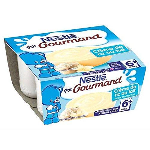 Nestlé p'tit gourmand crème de riz au lait infantile 4 x 100g dès 6 mois - ( Prix Unitaire ) - Envoi Rapide Et Soignée