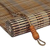 JU FU Rollo Bambus Vorhang - natürliche Nanmu Kordelzug Bambus Vorhang staubdicht und Wasserdicht Hohlen Tee Zimmer Shutter [3 Farben 19 Größen] @ (Farbe : Log, größe : 100x200CM)