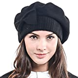 Frauen Barette 100% Wolle Baskenmützen Schicke Winter Mütze HY022