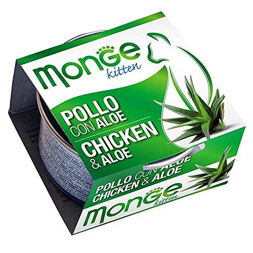 Monge -  Cibo Per Gatti, Pollo/Aloe, 80 grammi