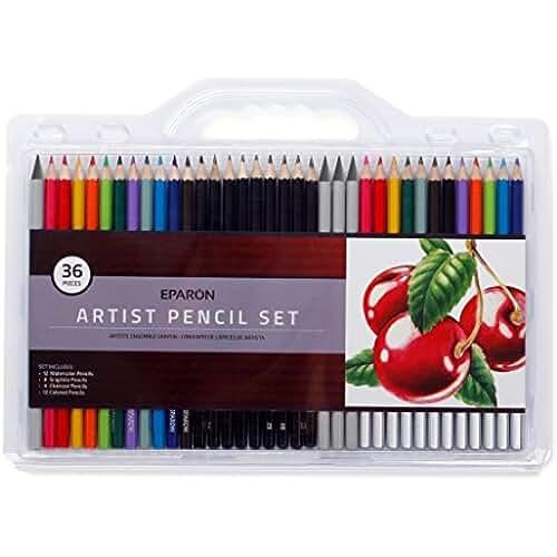 mas dibujos kawaii Eparon® Lápices De Colores - 36 Lápices, 36 Colores únicos