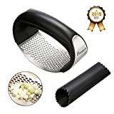 Charminer Kitchen Garlic Rocker Garlic Press Ginger Crusher Squeezer 304 Food Grade Stainless